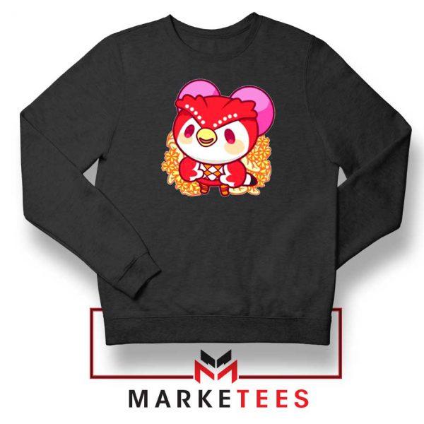 Bird Animal Crossing Series Black Sweatshirt