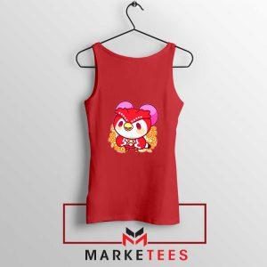 Bird Animal Crossing Series Red Tank Top