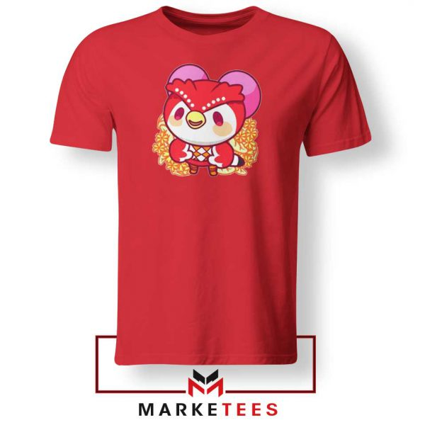 Bird Animal Crossing Series Red Tshirt