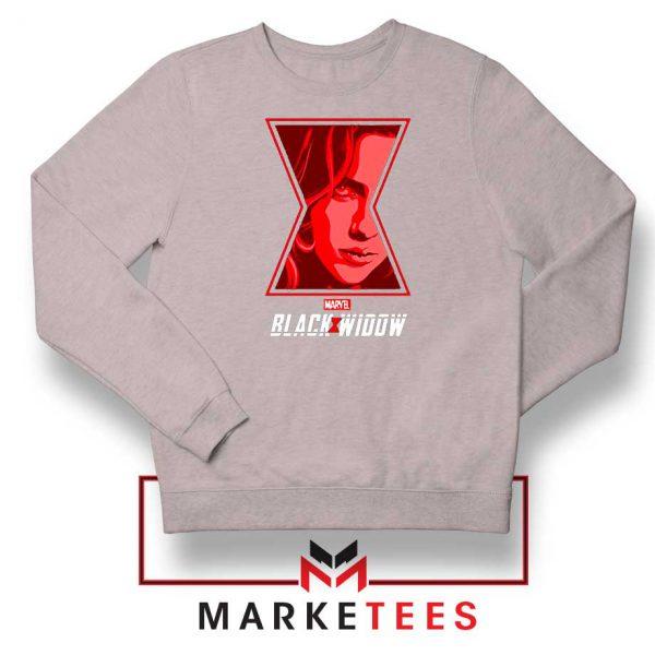 Black Widow Close Up Marvel Sport Grey Sweatshirt