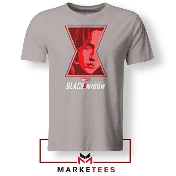 Black Widow Close Up Superhero Sport Grey Tshirt