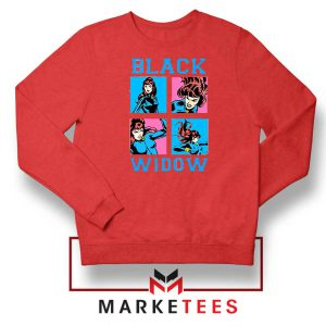 Black Widow Panels Girls Best Red Sweatshirt