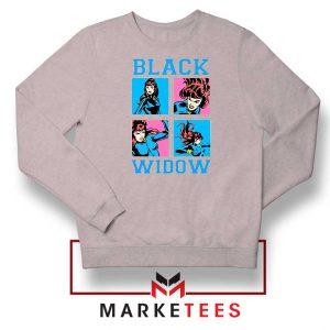 Black Widow Panels Girls Best Sport Grey Sweatshirt