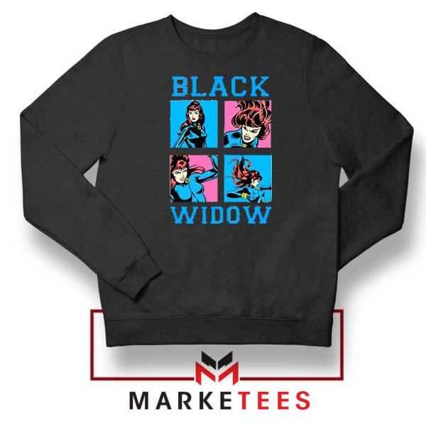 Black Widow Panels Girls Best Sweatshirt