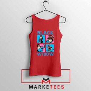 Black Widow Panels Girls Cheap Red Tank Top