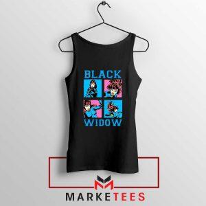 Black Widow Panels Girls Cheap Tank Top
