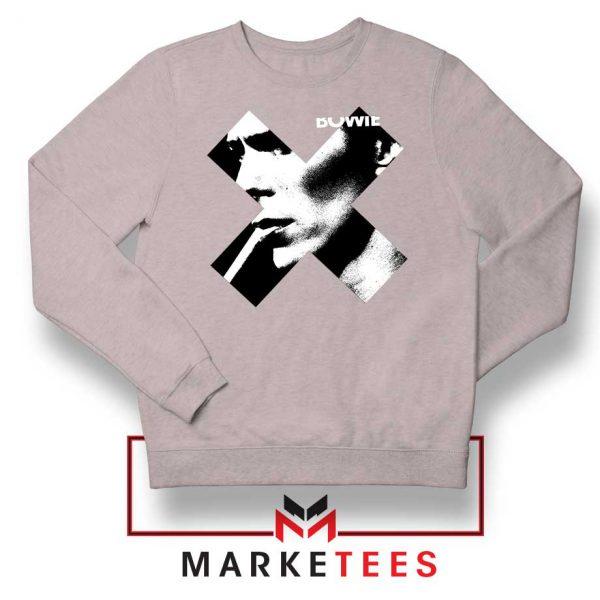 Bowie X Smoke Art Rock Best Grey Sweatshirt