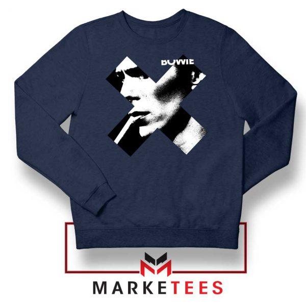 Bowie X Smoke Art Rock Best Navy Blue Sweatshirt
