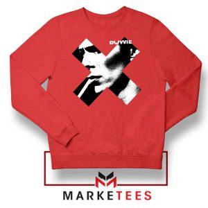 Bowie X Smoke Art Rock Best Red Sweatshirt