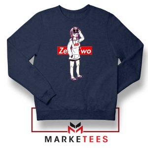 Darling In The Franxx Brand Navy Blue Sweatshirt
