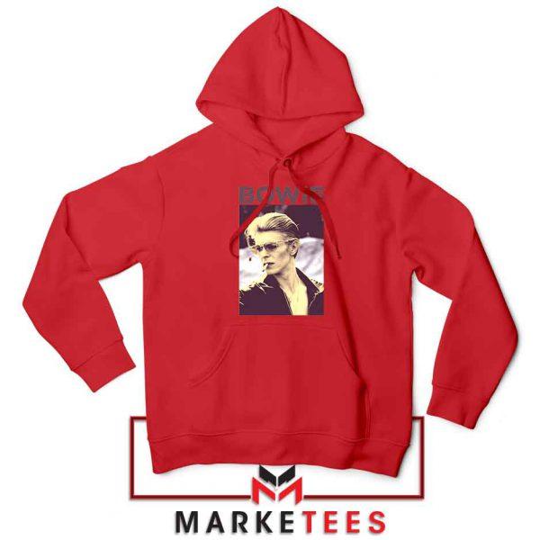 David Bowie Actor Smoke Best Red Hoodie