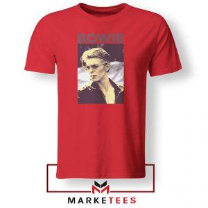 David Bowie Actor Smoke Best Red Tshirt