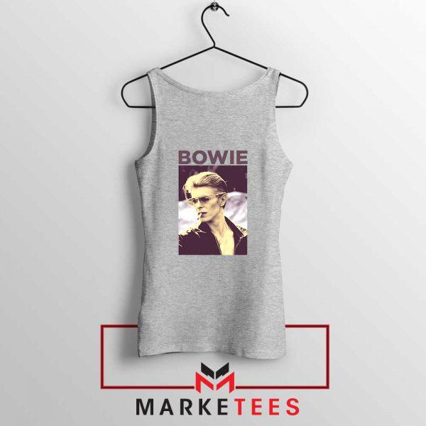 David Bowie Actor Smoke New Grey Tank Top