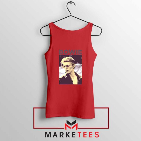 David Bowie Actor Smoke New Red Tank Top
