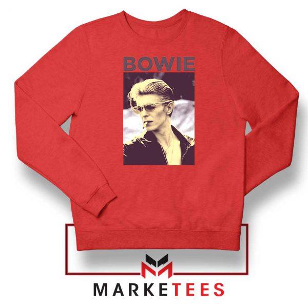David Bowie Actor Smoke Nice Red Sweatshirt
