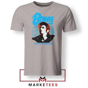 David Bowie Singer Ziggy Stardust Grey Tshirt