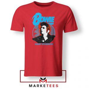 David Bowie Singer Ziggy Stardust Red Tshirt