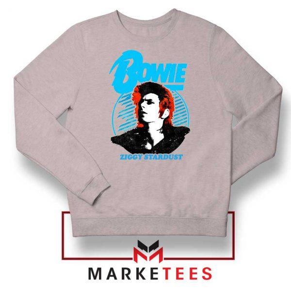 David Bowie Ziggy Stardust Grey Sweatshirt