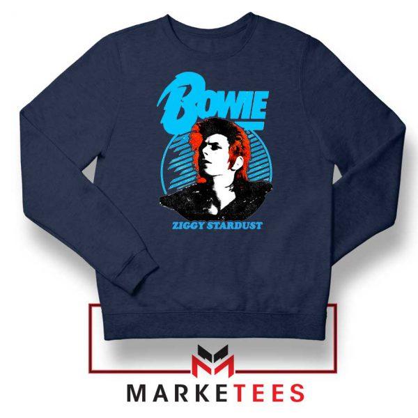 David Bowie Ziggy Stardust Navy Blue Sweatshirt