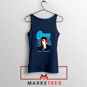 David Bowie Ziggy Stardust Navy Blue Tank Top