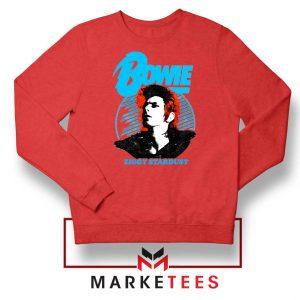 David Bowie Ziggy Stardust Red Sweatshirt