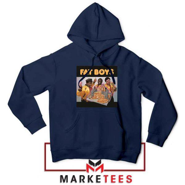 Fat Boys 80s Rap Cool Cheap Navy Blue Hoodie