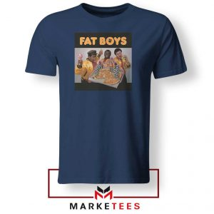Fat Boys 80s Rap Cool Cheap Navy Blue Tshirt