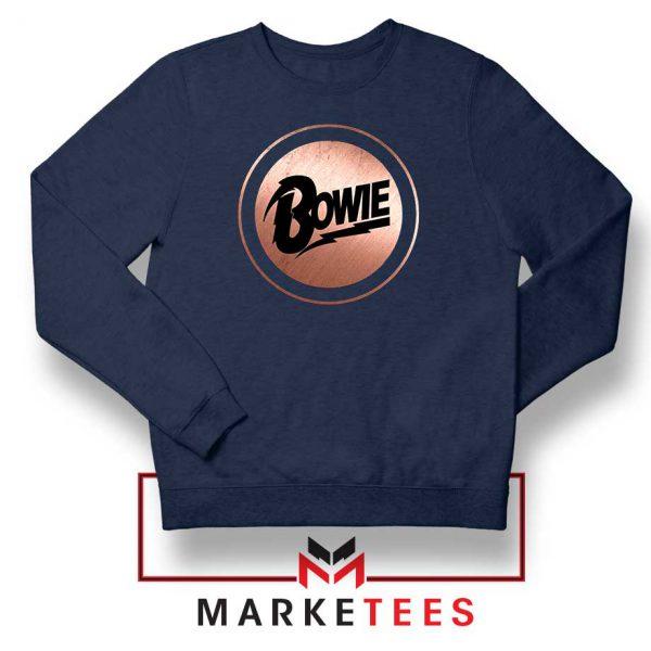 Global Icon Music David Bowie Navy Blue Sweatshirt