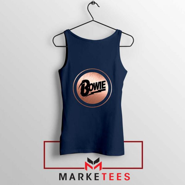 Global Icon Music David Bowie Navy Blue Tank Top