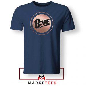 Global Icon Music David Bowie Navy Blue Tshirt