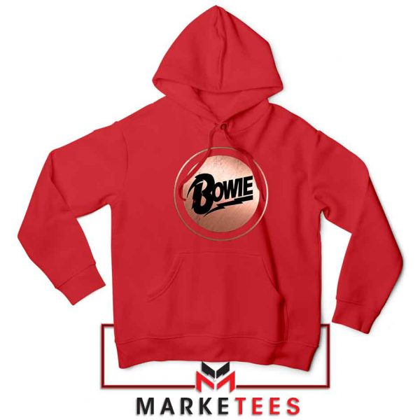 Global Icon Music David Bowie Red Hoodie