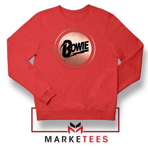 Global Icon Music David Bowie Red Sweatshirt