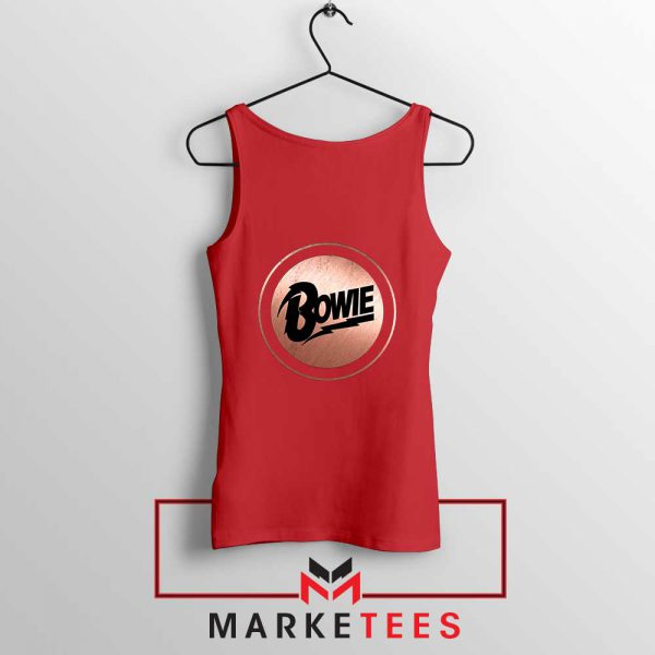 Global Icon Music David Bowie Red Tank Top
