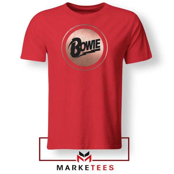 Global Icon Music David Bowie Red Tshirt