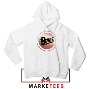 Global Icon Music David Bowie White Hoodie