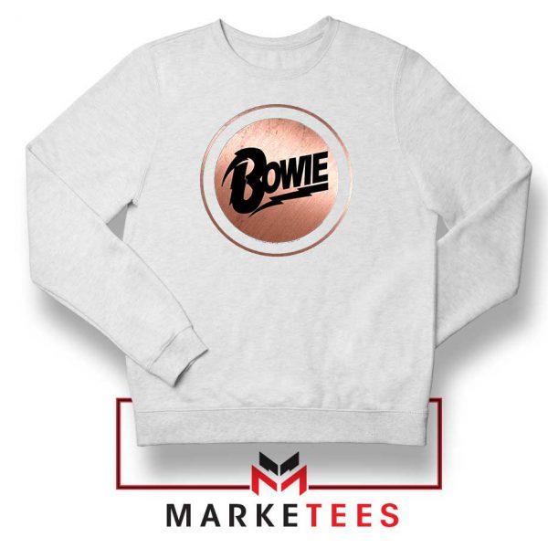 Global Icon Music David Bowie White Sweatshirt