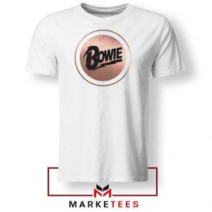 Global Icon Music David Bowie White Tshirt