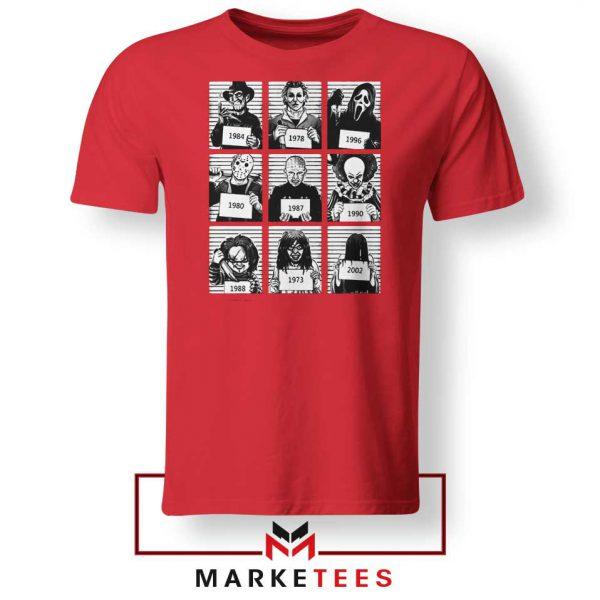 Horror Prison Friends Best Red Tshirt