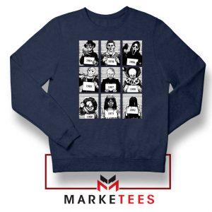 Horror Prison Friends New Navy Blue Sweatshirt