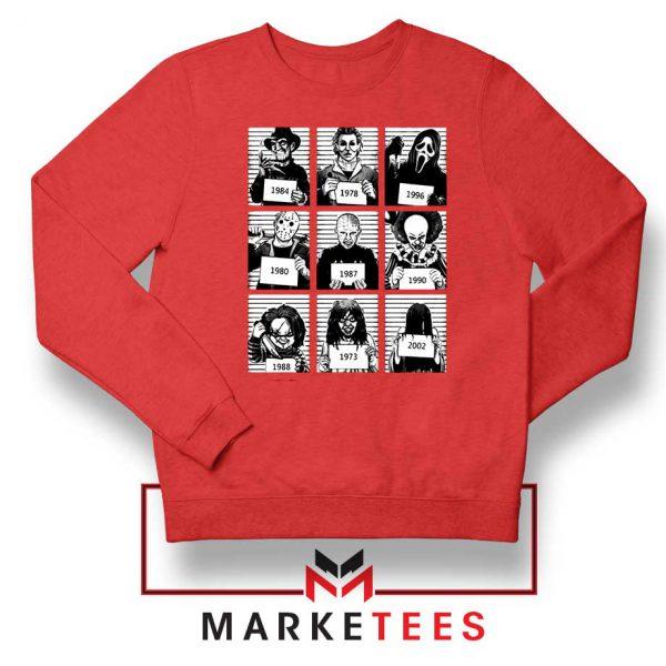 Horror Prison Friends New Red Sweatshirt