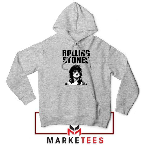 Keith Richards Smoking Grey Hoodie