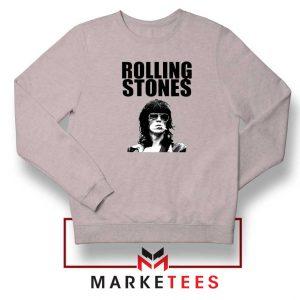 Keith Richards Smoking Grey Sweatshirt