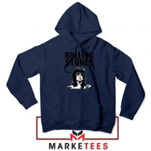 Keith Richards Smoking Navy Blue Hoodie