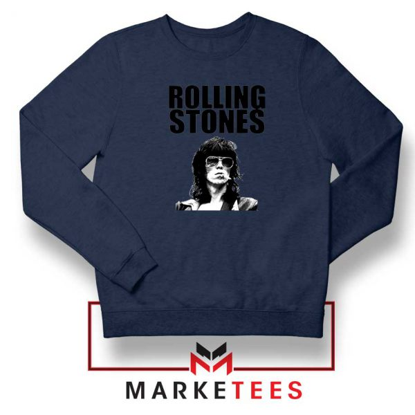 Keith Richards Smoking Navy Blue Sweatshirt