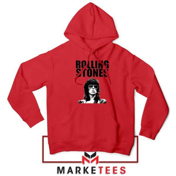 Keith Richards Smoking Red Hoodie