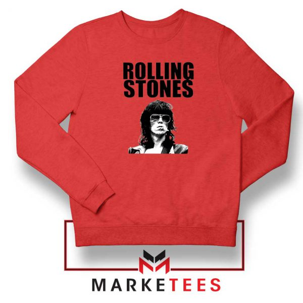 Keith Richards Smoking Red Sweatshirt
