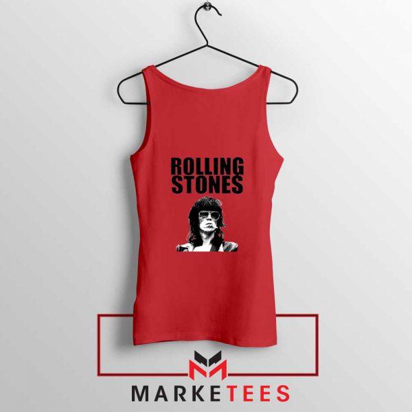 Keith Richards Smoking Red Tank Top