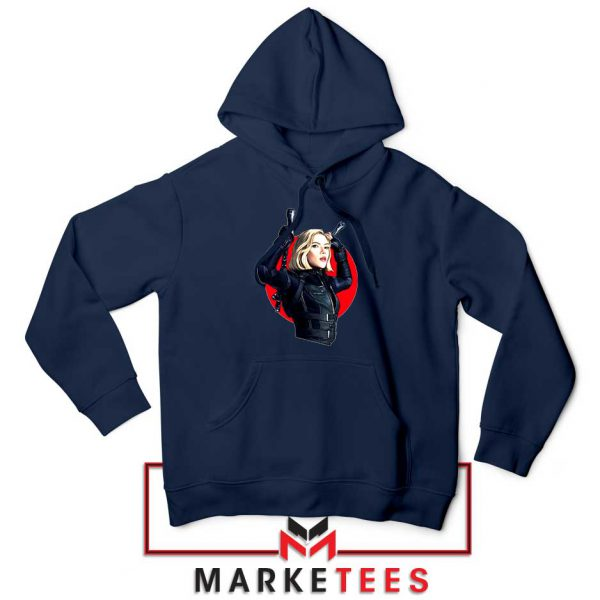 Marvels Black Widow Superhero Navy Blue Hoodie
