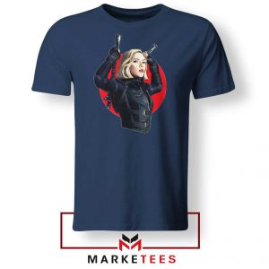 Marvels Black Widow Superhero Navy Blue Tshirt