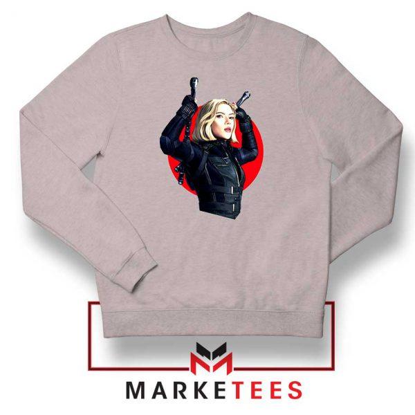 Marvels Black Widow Superhero Sport Grey Sweatshirt